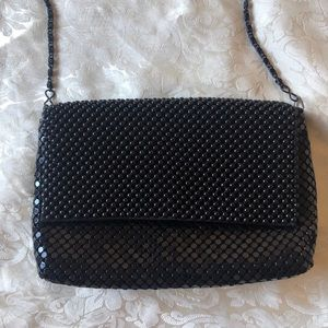 vintage beaded chainmail crossbody purse
